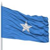 Somalia Flag on Flagpole Royalty Free Stock Photography