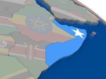 Somalia with flag Royalty Free Stock Photos