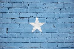 Somalia flag is painted onto an old brick wall royalty free stock photography