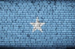 Somalia flag is painted onto an old brick wall stock image