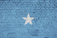 Somalia flag is painted onto an old brick wall vector illustration