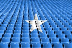 Somalia flag stadium seats. Sports competition concept. Somalia flag stadium seats. Sports competition concept stock images