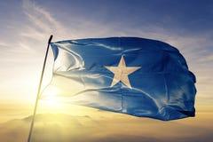 Somalia flaga państowowa tkaniny tekstylny sukienny falowanie na wierzchołku ilustracji