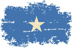 Somalia grunge flag. Vector illustration. Royalty Free Stock Images