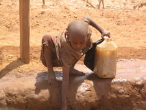 Somalia-Hunger-Flüchtlingslager Lizenzfreie Stockfotos