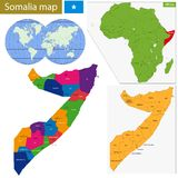 Somalia map Royalty Free Stock Image