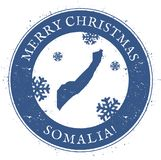 Somalia map. Vintage Merry Christmas Somalia. Somalia map. Vintage Merry Christmas Somalia Stamp. Stylised rubber stamp with county map and Merry Christmas text Stock Images