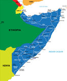 Somalia mapa Fotografia Stock