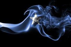 Somalia smoke flag  on a black background.  Stock Images