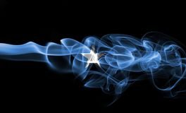 Somalia smoke flag. Isolated on a black background stock photo
