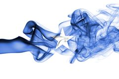 Somalia smoke flag isolated on a white background.  Royalty Free Stock Photos