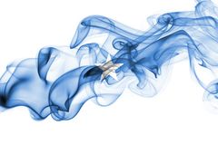 Somalia smoke flag. Isolated on a white background stock photos