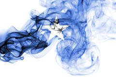 Somalia smoke flag. Isolated on a white background royalty free stock images