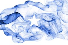 Somalia smoke flag. Isolated on a white background royalty free stock image