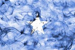 Somalia smoke flag isolated on a white background. Somalia smoke flag isolated on a white background royalty free stock photo