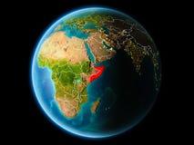 Somalia w wieczór Fotografia Royalty Free