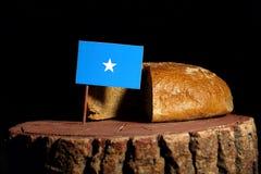 Somalian flaga na fiszorku z chlebem obrazy stock