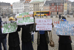 SOMALIES STAGED PROTEST AGAINST DANISH REFUGEES LAWS Royalty Free Stock Photography