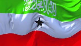 Somaliland flaga falowanie w Wiatrowym Ciągłym Bezszwowym pętli tle royalty ilustracja