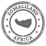 Somaliland grunge rubber stamp map and text. Stock Image