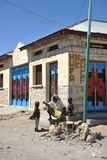 Somalis in the streets of the city of Borama. Royalty Free Stock Photo