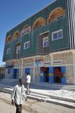 Somalis in the streets of the city of Borama. Royalty Free Stock Images