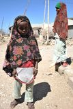 Somalis in the streets of the city of Borama. Stock Images