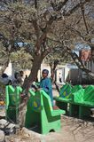 Somalis in the streets of the city of Borama. Royalty Free Stock Photography