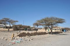 Somalis in the streets of the city of Borama. Stock Image