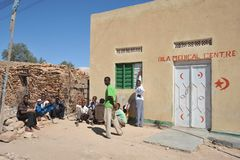 Somalis in the streets of the city of Borama Royalty Free Stock Images