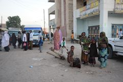 Somalis in the streets of the city of Hargeysa Royalty Free Stock Images
