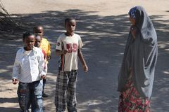 Somalis in the streets of the city of Hargeysa. Stock Images