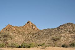 Somalische Landschaft lizenzfreies stockfoto