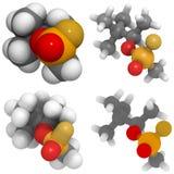 Soman (GD) molecule Royalty Free Stock Photos