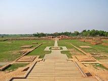 Somapura Mahavihara废墟在Paharpur,孟加拉国 库存照片