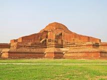Somapura Mahavihara废墟在Paharpur,孟加拉国 免版税库存图片