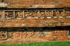 Paharpur Bihar Archeological sites in Bangladesh. Somapura Mahavihara known as Paharpur Bihar or Paharpur Vihara in UNESCO cultural heritage site in Bangladesh Royalty Free Stock Photos