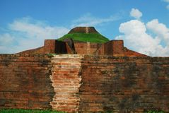 Paharpur Bihar Archeological sites in Bangladesh. Somapura Mahavihara known as Paharpur Bihar or Paharpur Vihara in UNESCO cultural heritage site in Bangladesh Royalty Free Stock Photography