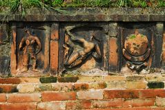 Paharpur Bihar Archeological sites in Bangladesh. Somapura Mahavihara known as Paharpur Bihar or Paharpur Vihara in UNESCO cultural heritage site in Bangladesh Royalty Free Stock Photo