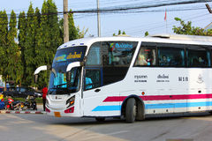 Sombattour. Super longer bus in Thailand. 15 meter. Bus route Bangkok and Chiangmai. The ticket of VIP bus include super wide seat and width space between the Royalty Free Stock Image