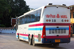 Sombattour. Super longer bus in Thailand. 15 meter. Bus route Bangkok and Chiangmai. The ticket of VIP bus include super wide seat and width space between the Stock Photography