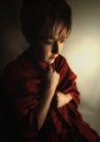 Somber girl Stock Image