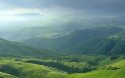 Somber morning. This is somber morning in Caucasus mountains in summer royalty free stock image