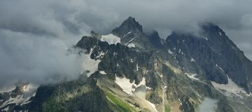 Somber mountains Royalty Free Stock Image