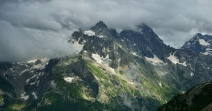 Somber mountains Stock Photo