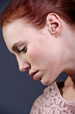 Somber Red Head Royalty Free Stock Photos