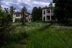 Sombere Middag - het Verlaten Allegheny-Armenhuis van de Provincie - New York royalty-vrije stock fotografie