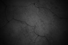 Sombere muurachtergrond, de zwarte oppervlakte van het textuurcement Royalty-vrije Stock Afbeeldingen
