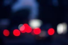 Sombere rode lichtenachtergrond Stock Fotografie