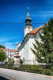 Serbian Orthodox Church of St. George in Sombor. Sombor, Serbia July 12, 2017: Serbian Orthodox Church of St. George in Sombor royalty free stock photos